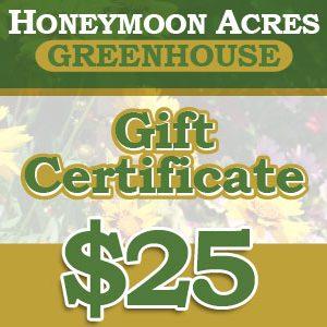 Honeymoon Acres Gift Certificate - $25